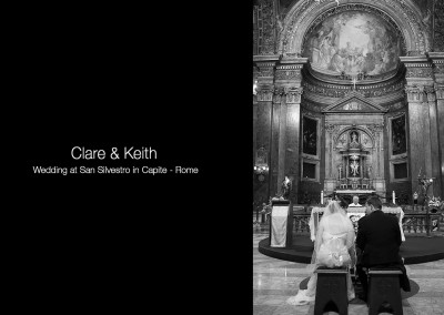 Scottish wedding San Silvestro Capite Rome